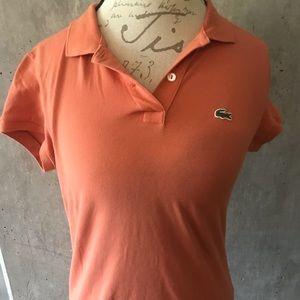 Lacoste Women's Polo 2 Button Light Orange